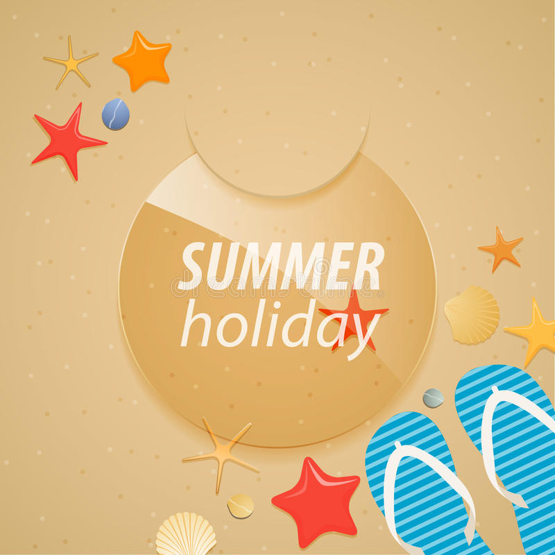 Download Summer holidays sticker. stock vector. Image of creative - 25303133