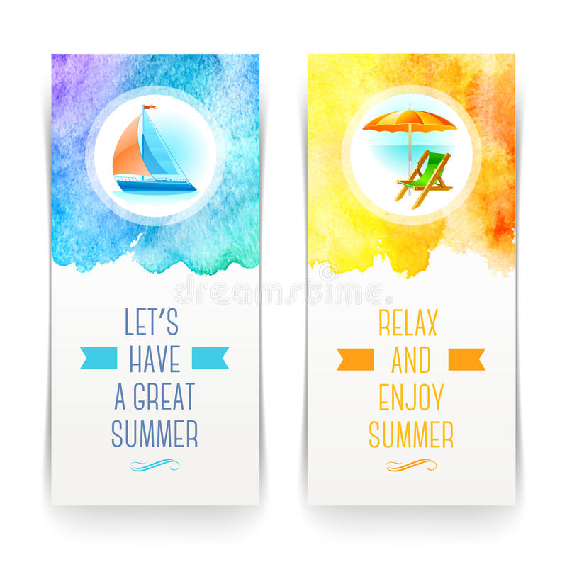 Summer holidays and travel banners stock vector illustration of download summer holidays and travel banners stock vector illustration of aquarelle background 40289010 m4hsunfo