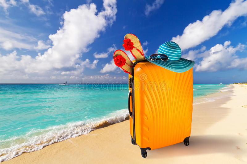 Summer holidays on the tropical beach stock image