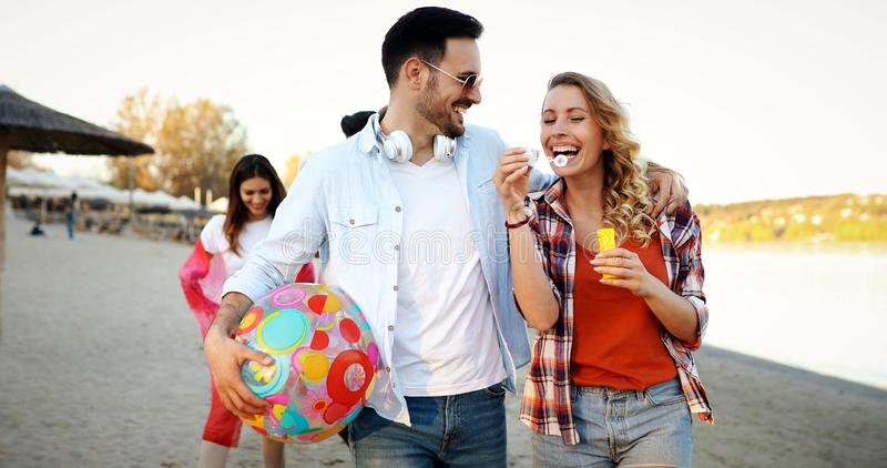 Summer, holidays, vacation and happiness concept stock image