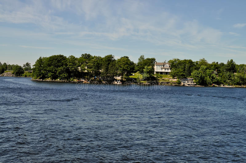 Summer Home On Waterfront Royalty Free Stock Photos