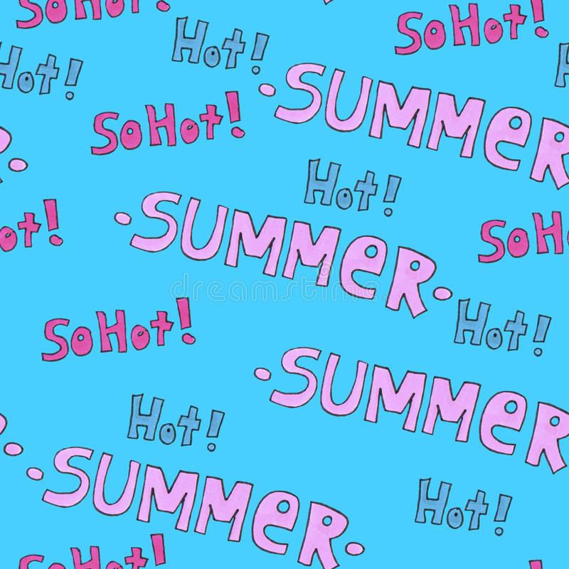 Summer hot pattern for background or package. Seasons concept. stock photo