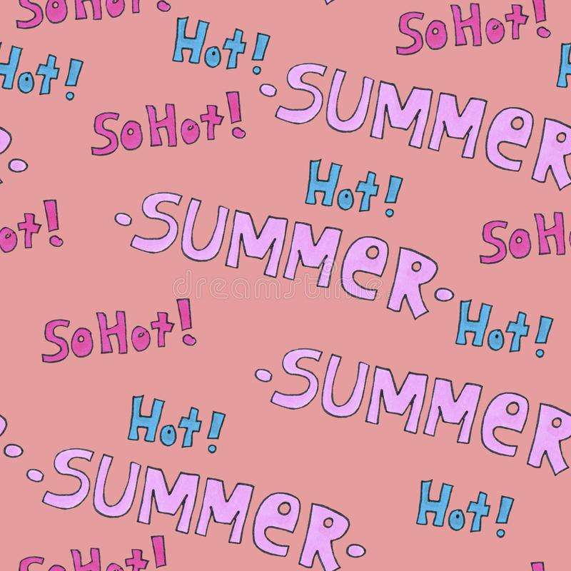 Summer hot pattern for background or package. Seasons concept. stock photography
