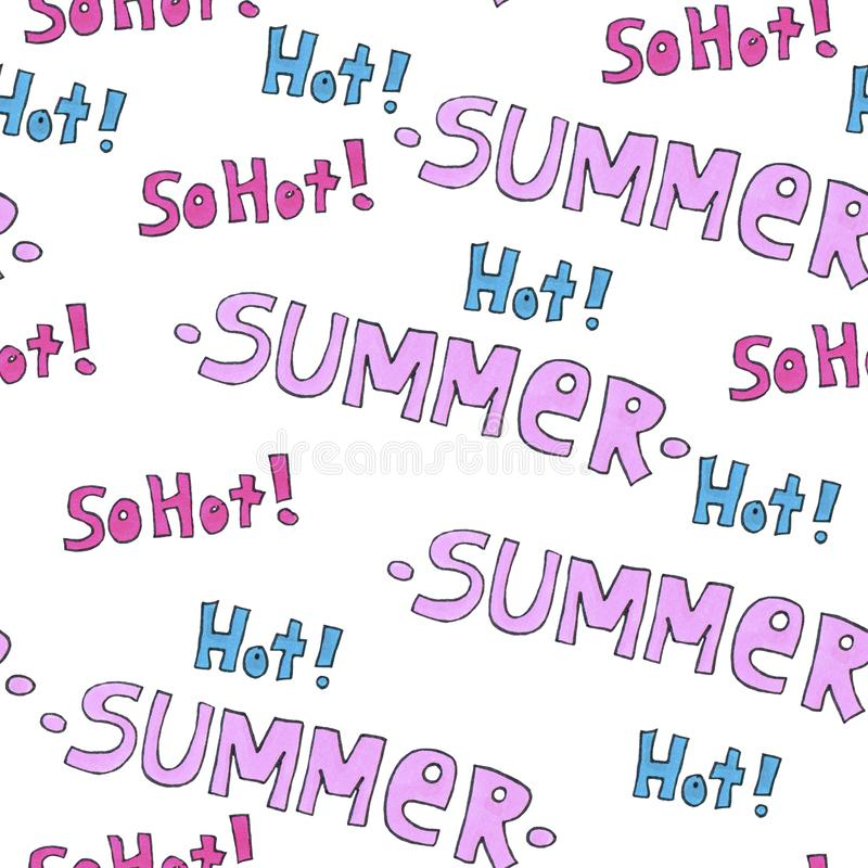 Summer hot pattern for background or package. Seasons concept. stock images