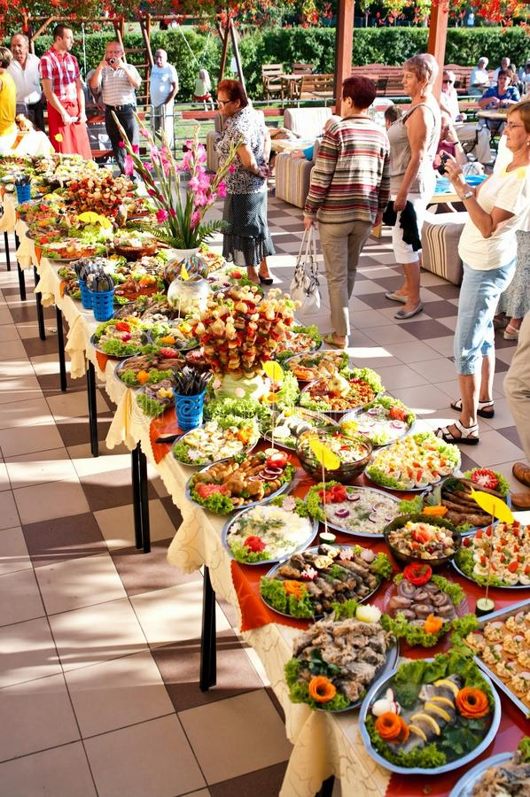 Summer hotel food festival royalty free stock images