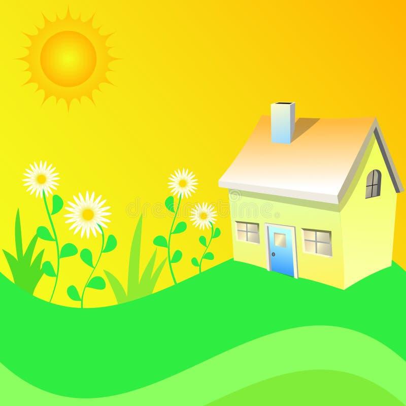Summer house stock illustration