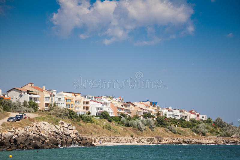 Summer houses at Eforie Nord stock image