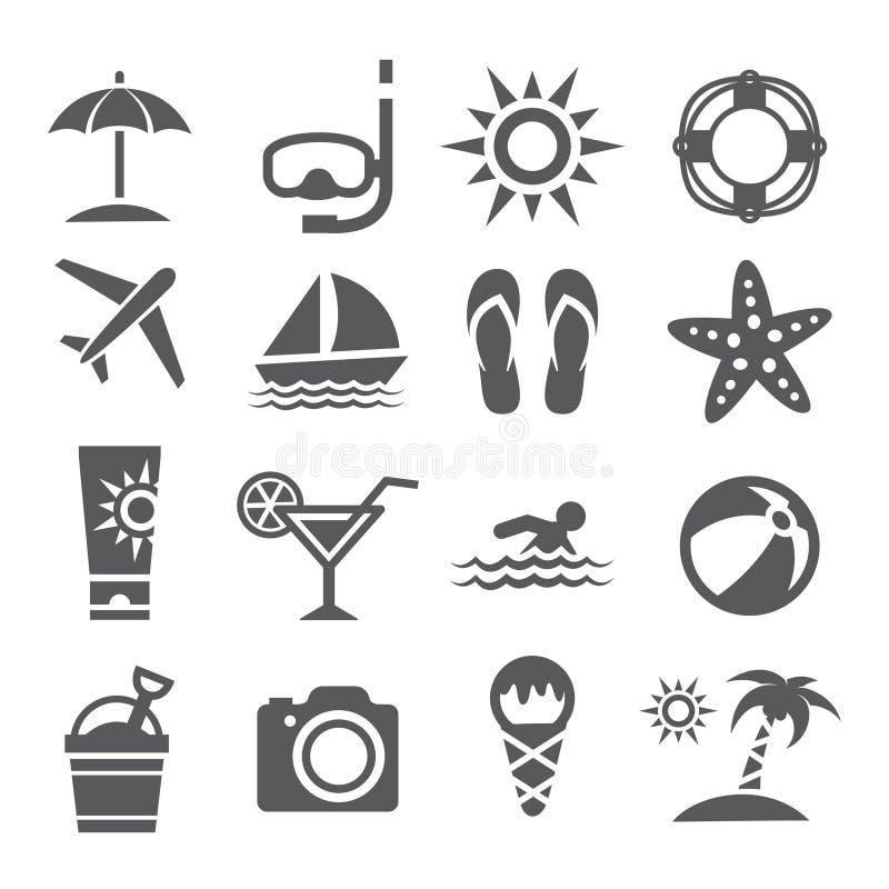 Free Summer Icons Stock Photos - 55866173