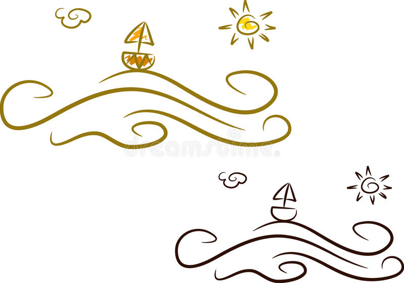 Download Summer Icons (I): Ocean Royalty Free Stock Photos - Image: 10537578