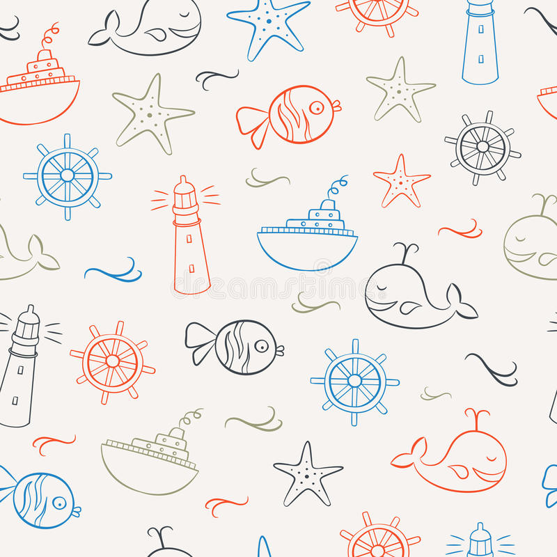 Summer Icons Seamless Pattern 2 royalty free illustration