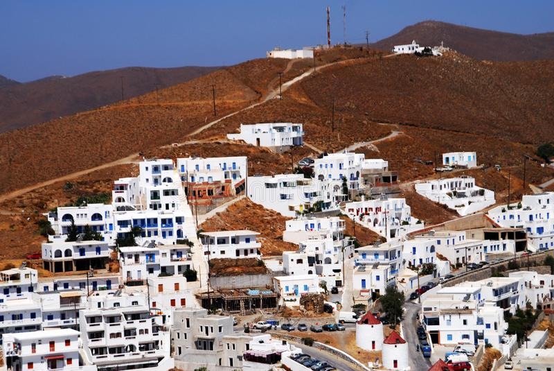 View of the town of Astypalaia in Astypalaia island, Dodecanese islands, Greece. Summer image of the town of Astypalaia, Astypalaia island, Dodecanese islands royalty free stock photography