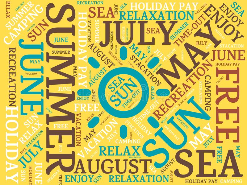 download summer image with words associated with the topic summer and sun word cloud