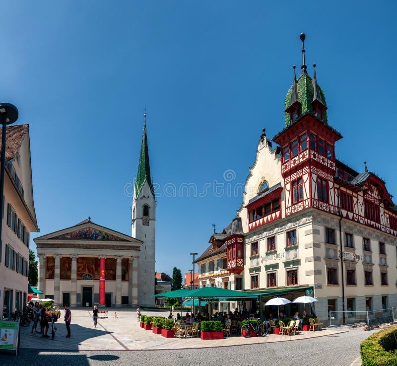 Summer Impressions of Dornbirn, Oostenrijk royalty-vrije stock foto's
