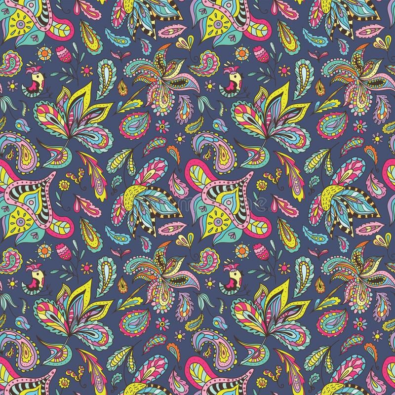 Summer Indian Pattern royalty free illustration