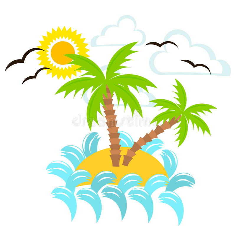 Download Summer island stock vector. Image of graphic, blue, nature - 26101572