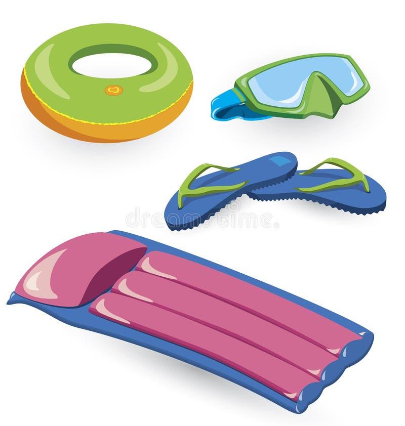 Download Summer items stock vector. Image of underwater, bright - 24280736
