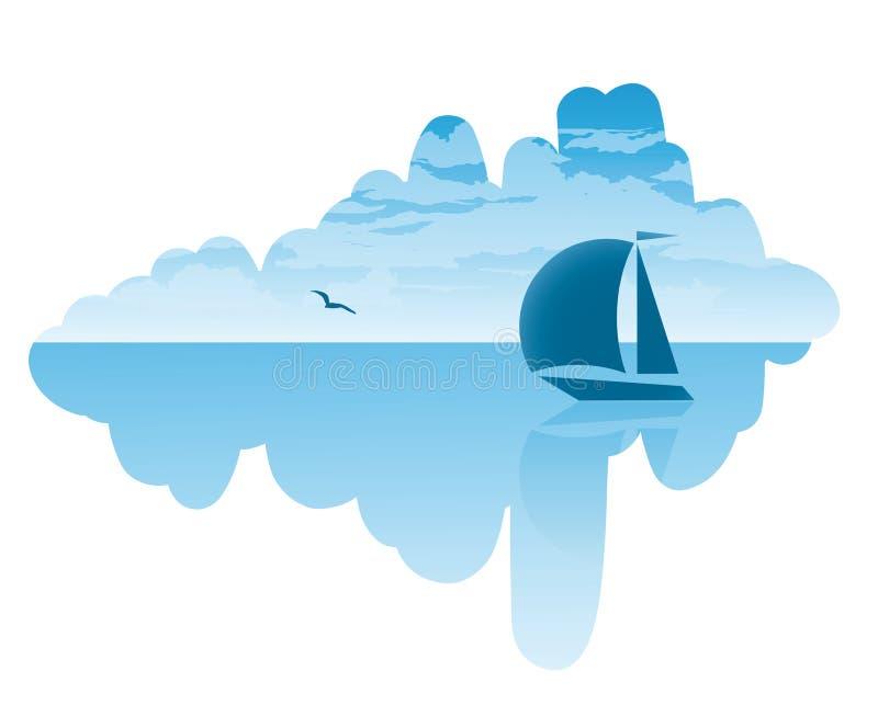 Download Summer journey stock vector. Image of seagull, scene - 28886072