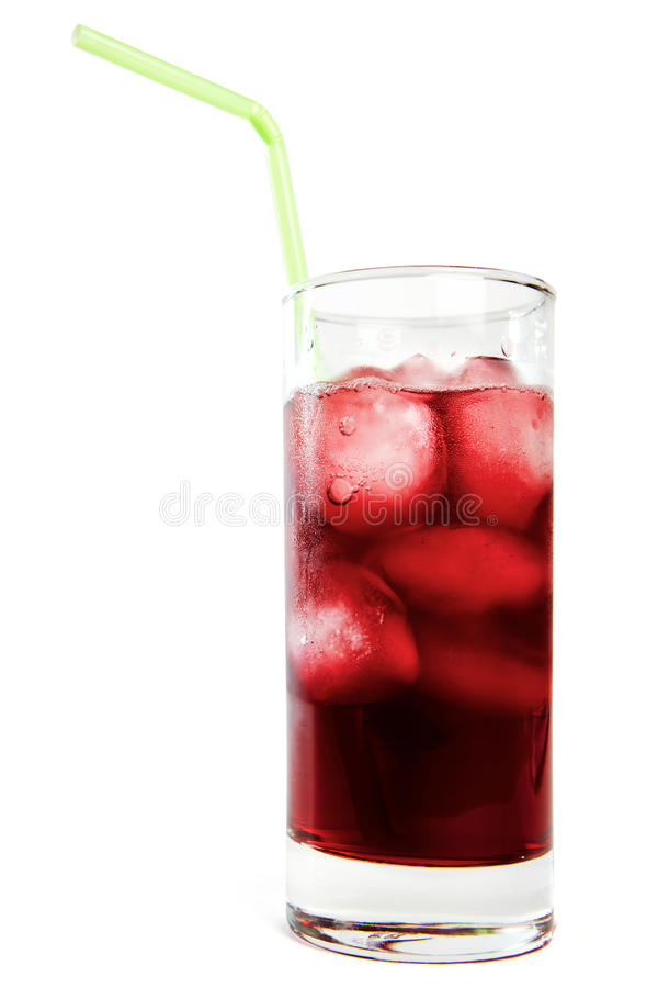 Summer juice with straw royalty free stock image