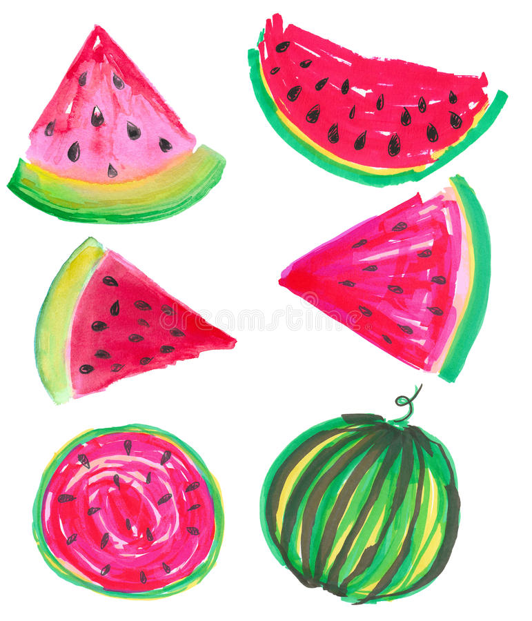 summer juicy watermelon royalty free stock images
