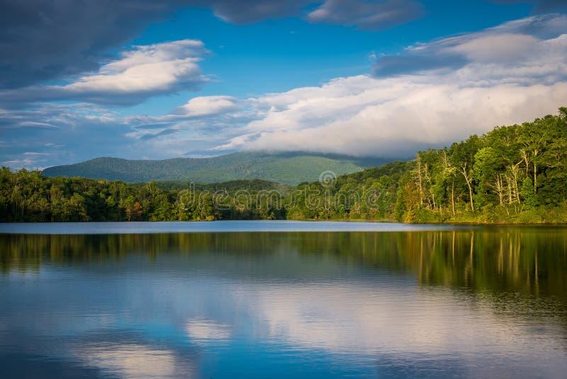 Summer at Julian Price Lake. Julian Price lake right off the Blue Ridge Parkway near Blowing Rock, North Carolina royalty free stock photos