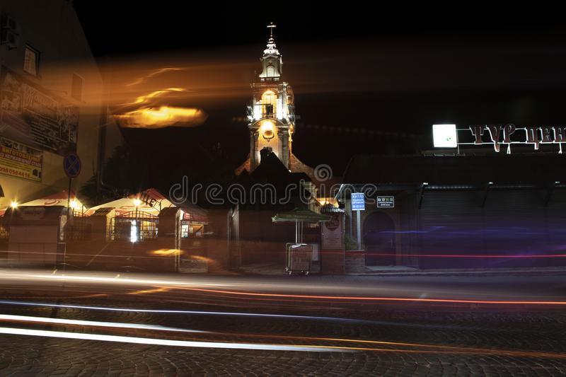 speed on the castle in Kamianets-Podilskyi stock photos