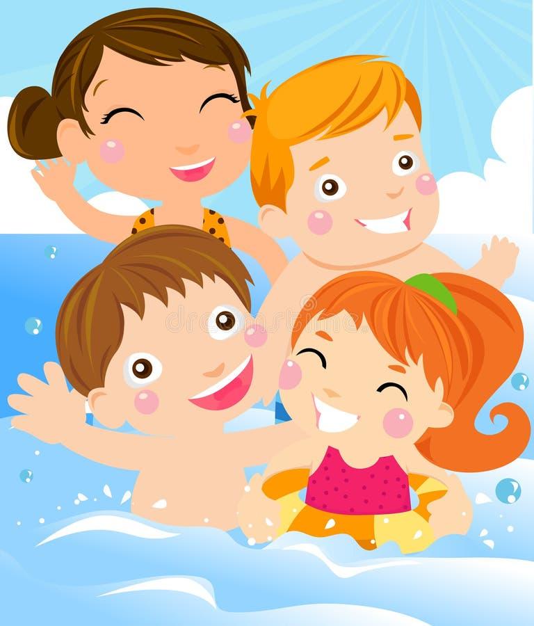 Summer kids vector illustration
