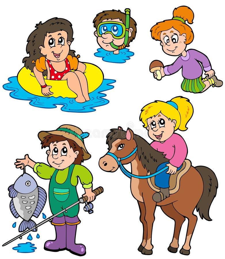 Download Summer Kids Activities Collection Stock Vector - Image: 14243437