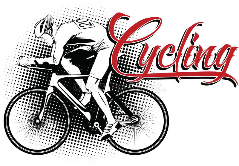 Summer kinds of sports. Cycling stock illustration