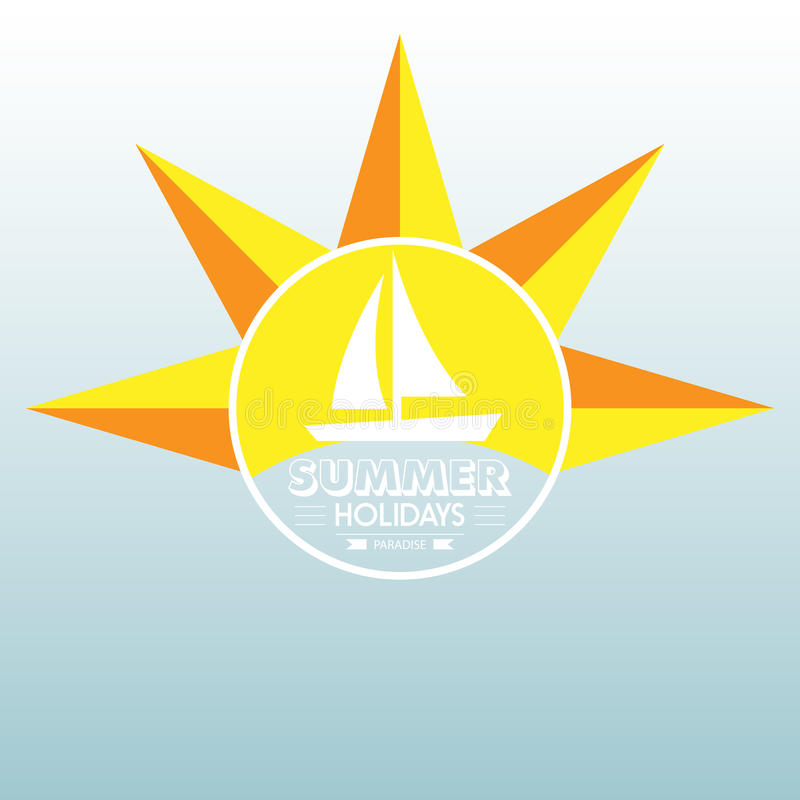 Summer label lettering typography illustration on light background. Vintage design elements, logos, labels,icons, objects a royalty free illustration