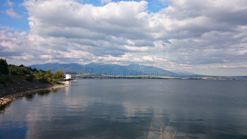 Summer lake stock image