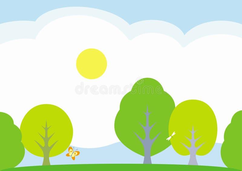 Download Summer Landscape – Vector Illustration Stock Vector - Image: 7802433