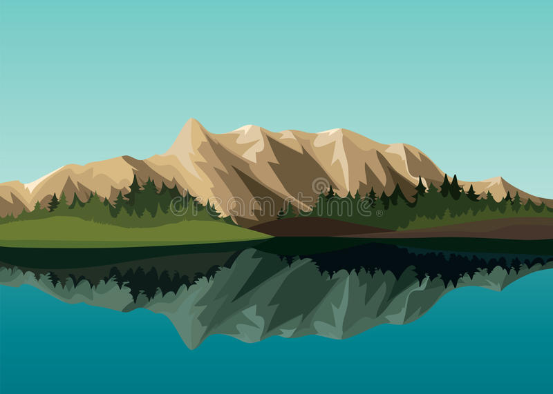 Summer landscape royalty free illustration