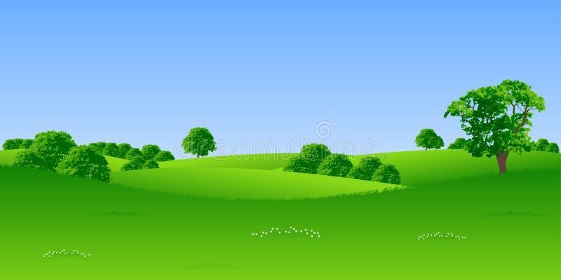 Download Summer landscape stock vector. Image of atmosphere, blue - 2703621