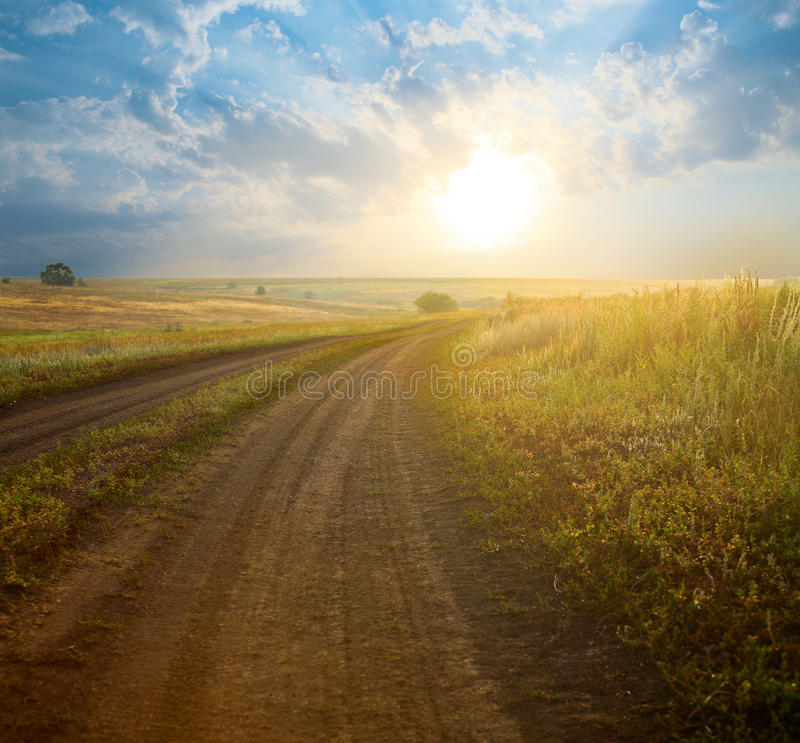 Download Summer landscape stock photo. Image of cloud, herb, over - 29027470