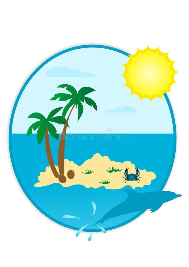 Summer landscape stock illustration