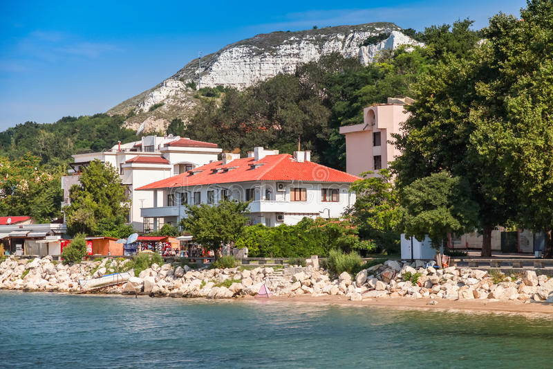 Summer landscape of Balchik, Coast of Black Sea. Varna region, Bulgaria stock image