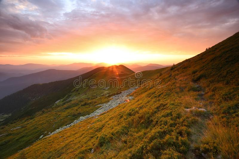 Summer landscape. Beautiful summer landscape in mountains stock images
