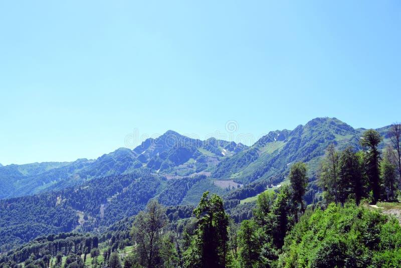 Summer landscape of Caucasian Mountains stock photo