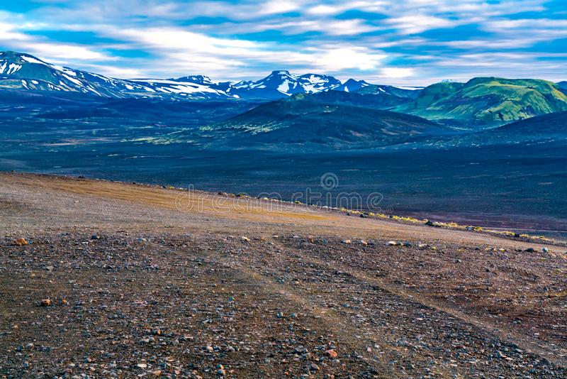Summer landscape of Landmannalaugar stock images