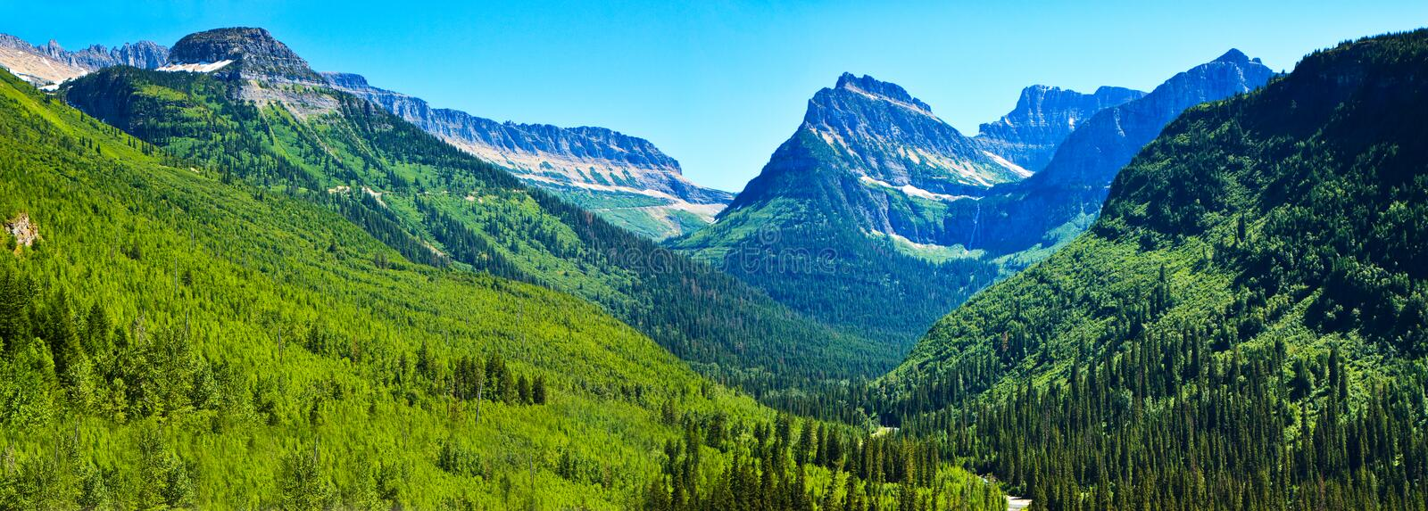Download Summer Landscape Panorama, Glacier National Park Stock Image - Image of outdoor, mountain: 20700859