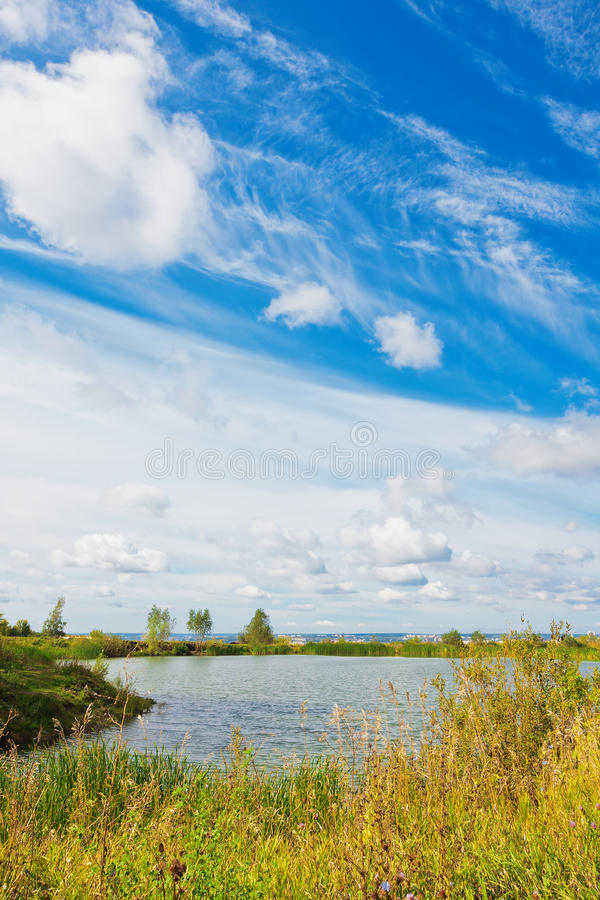 Download Summer Landscape With Pond Stock Photo - Image: 26584490
