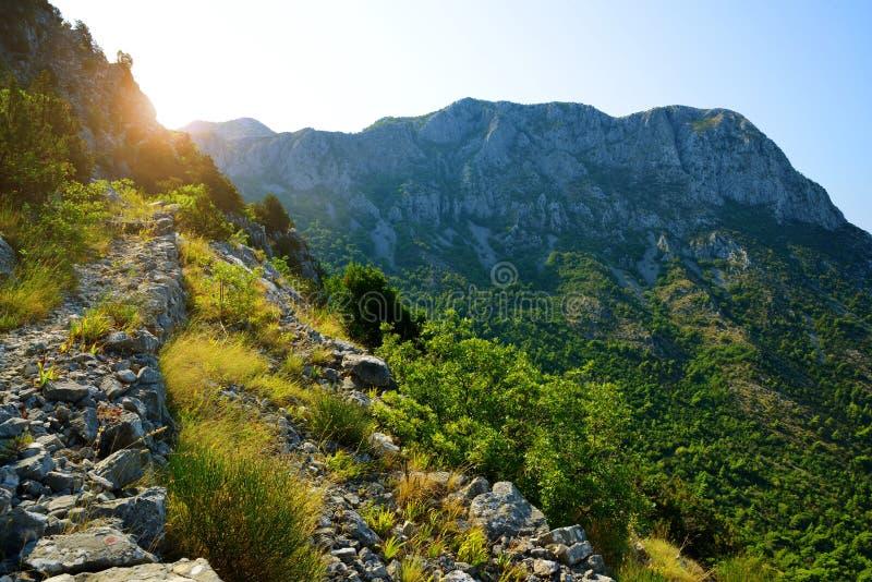 Summer landscape in the Rilic mountain at sunrise. Croatia. stock image