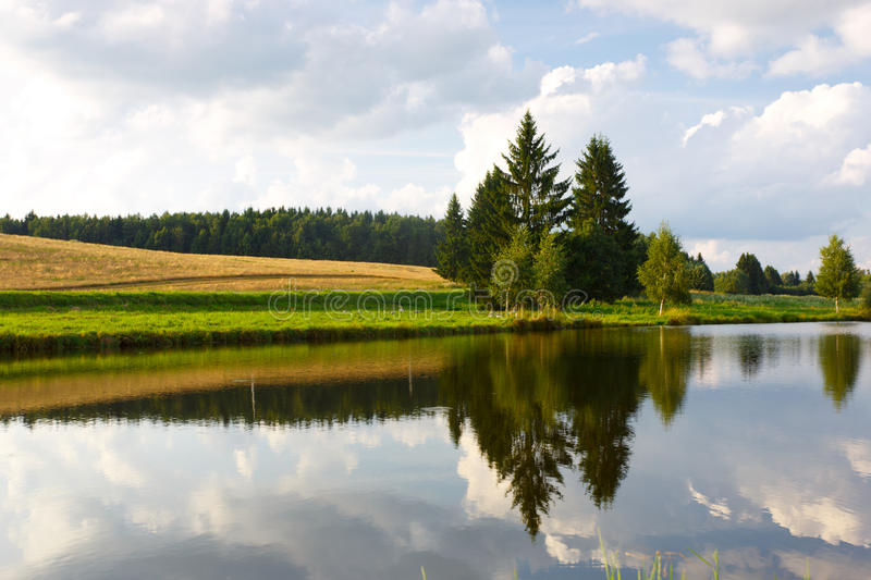 Download Summer Landscape With A River And Trees Stock Image - Image: 34045331