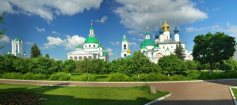 Summer landscape in Rostov Veliky. Gold ring of Russia. Rostov Veliky royalty free stock photos