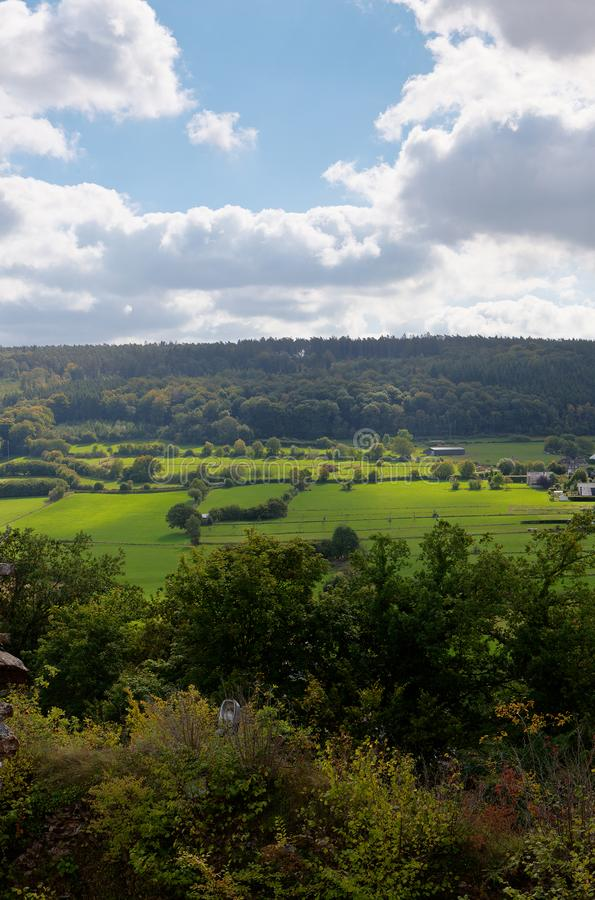 Landscape Ardennes, Wallonia, Belgium stock photo
