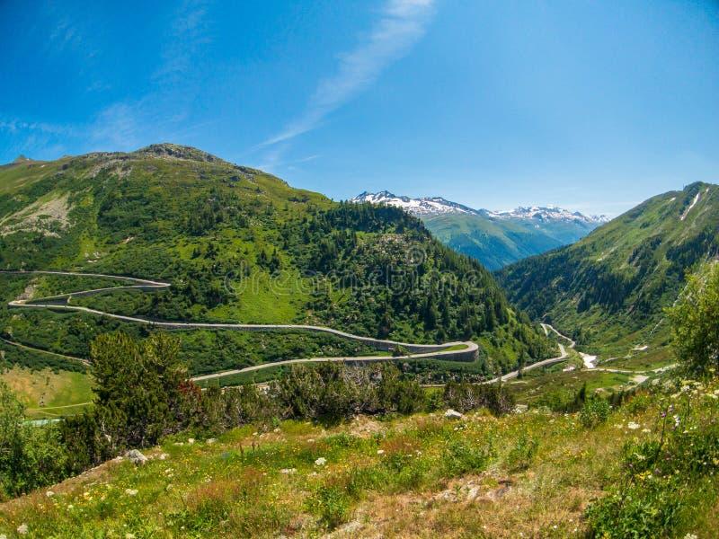 Summer landscape of Switzerland mountain nature stock photos