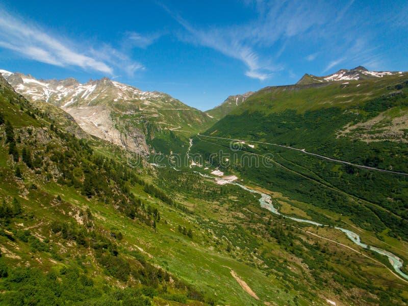 Summer landscape of Switzerland mountain nature royalty free stock photo