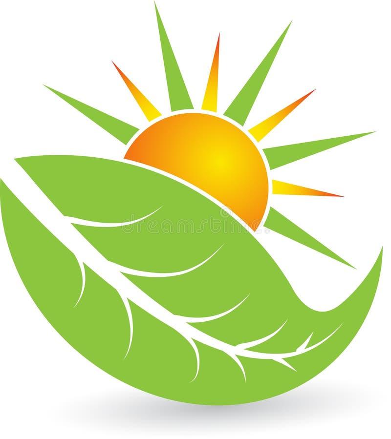Summer leaf logo stock illustration