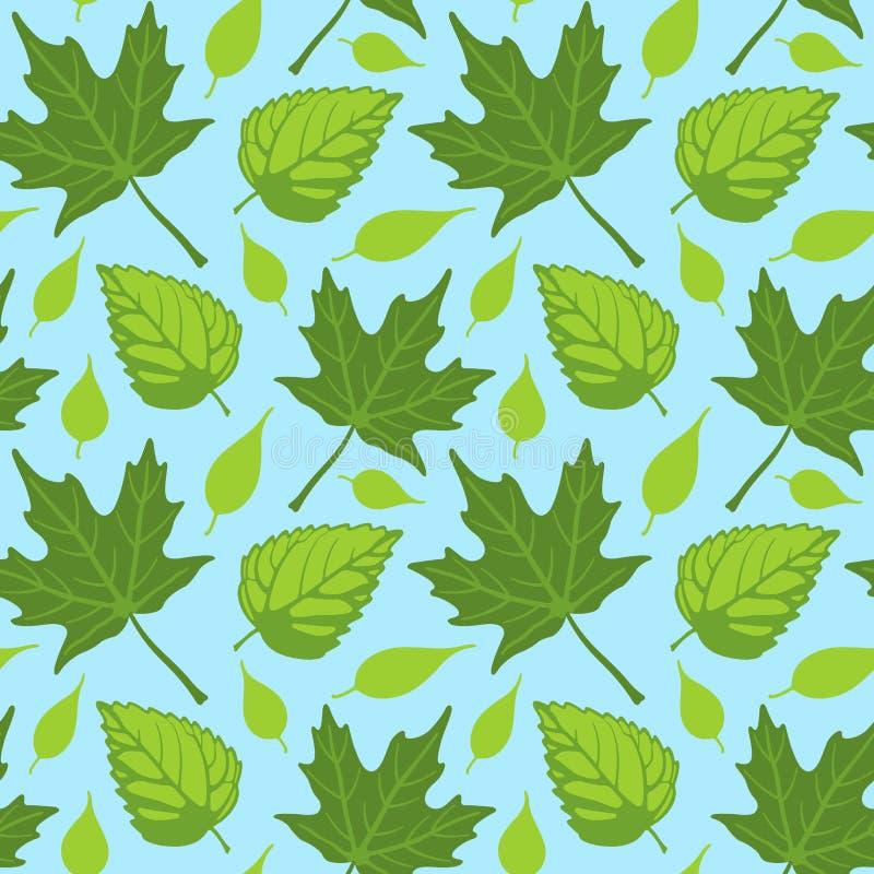 Summer Leaves seamless stock illustration