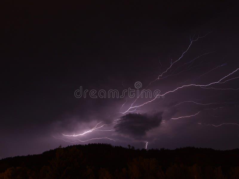Summer lightning royalty free stock photos